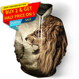 Winter Lion Punk Hoodies