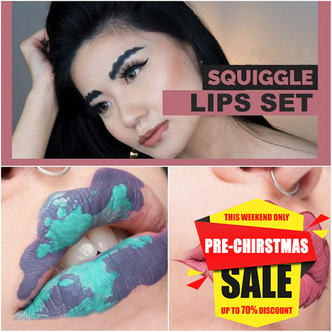 SQUIGGLE LIPS SET - FOCALLURE Concealer (Set Gift)