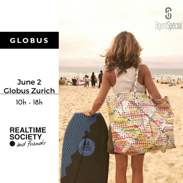 We're at GLOBUS until June 9th - Zurich Globs Bahnhofstrasse