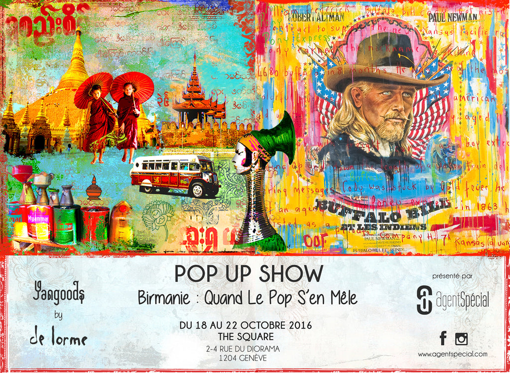 Save the Date AgentSpécial Pop Up Show à Genève Birmanie: Quand Le Pop S'en Mêle