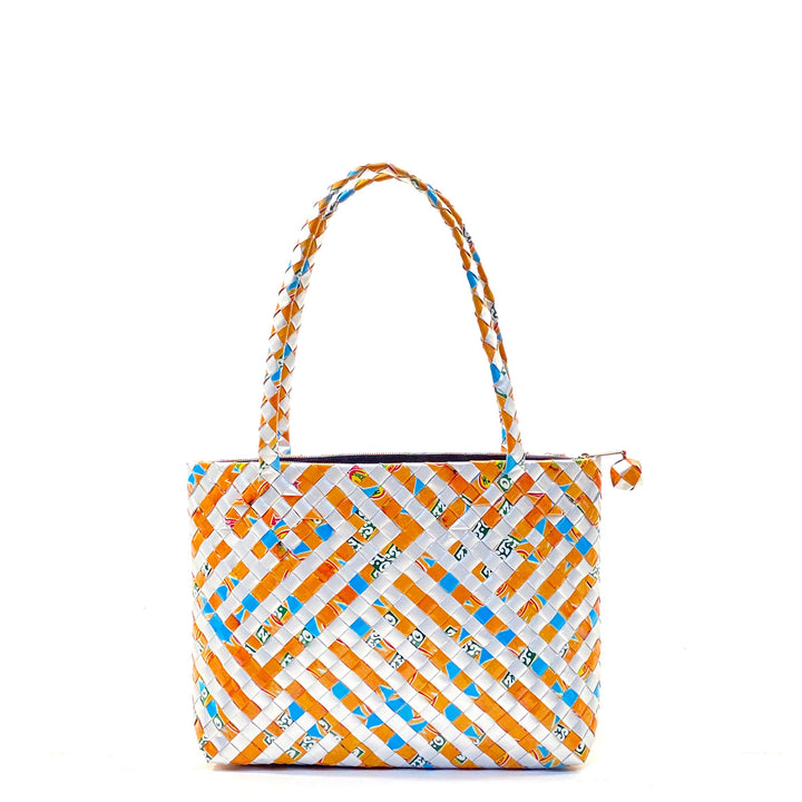 Shoulder Bag S with zip - Stripes