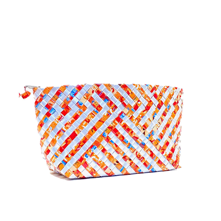 Cosmetic Pouch Large - Terracotta Stripes - AgentSpécial