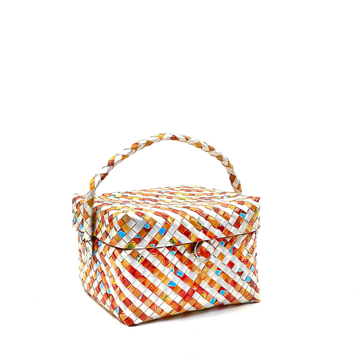Lunch or Cosmetic Box - Terracotta Stripes - AgentSpécial