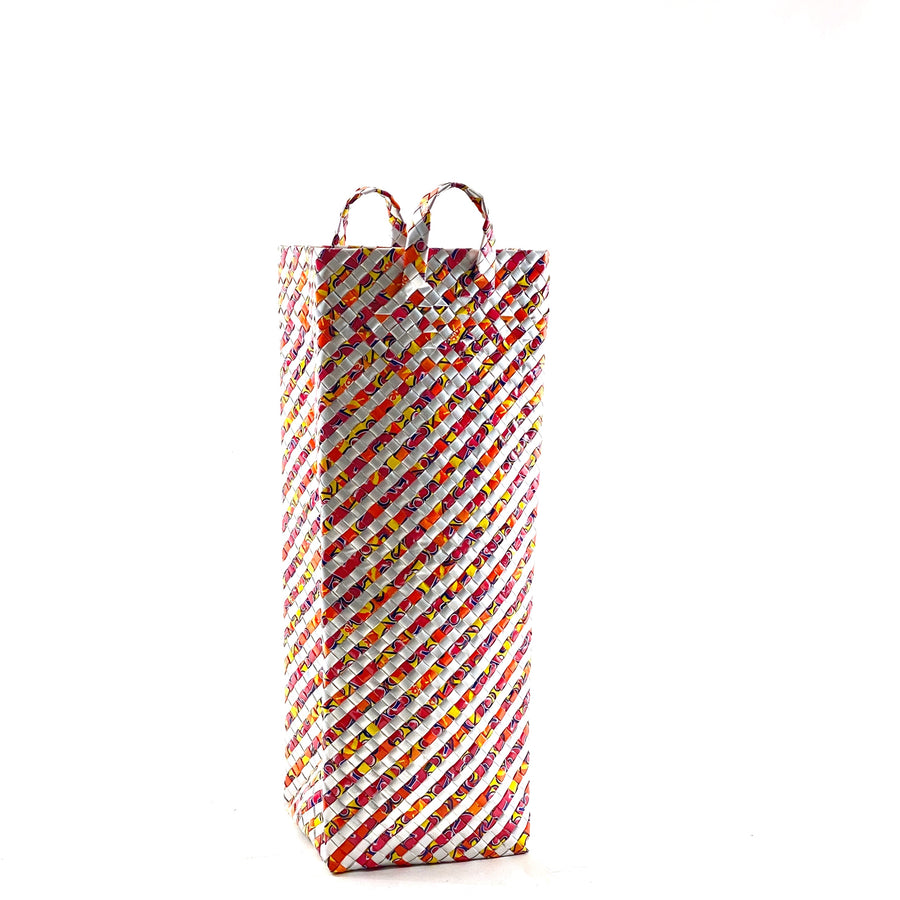 Umbrella Stand or laundry basket Tube S - Pomegranate Stripes