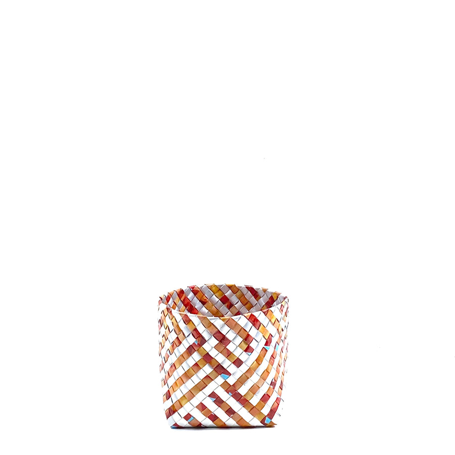 Small Basket - Terracotta Stripes