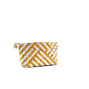 Cosmetic Pouch Small - Amber Stripes