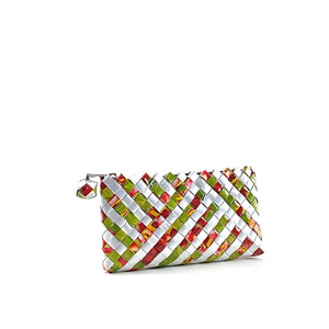 Wallet or Mask Pouch - Cherry Stripes