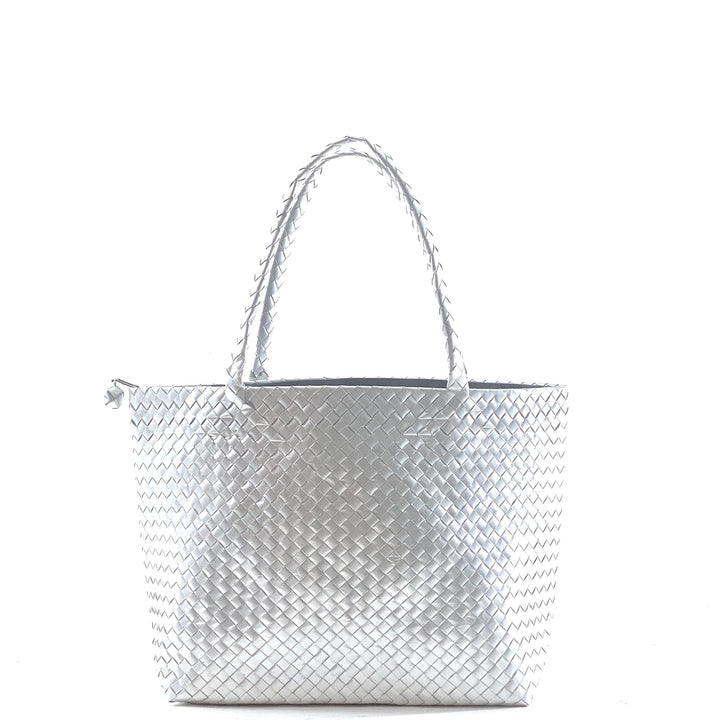 Tote Shopper Bag M with zip - Nude
