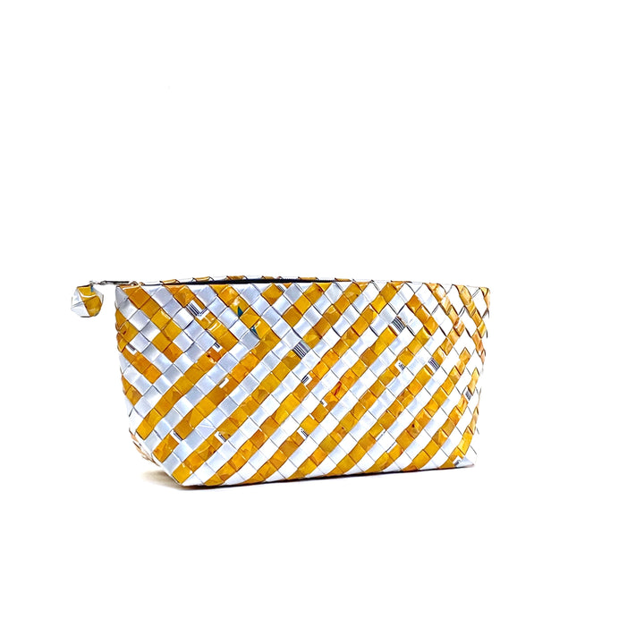 Cosmetic Pouch Medium - Amber Stripes - AgentSpécial