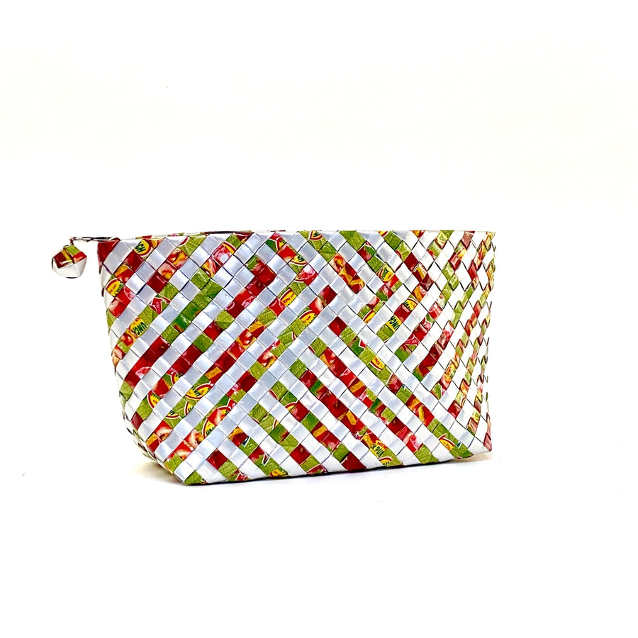 Cosmetic Pouch Large - Cherry Stripes - AgentSpécial