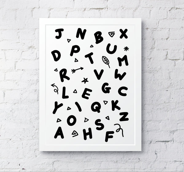 Alphabet monochrome