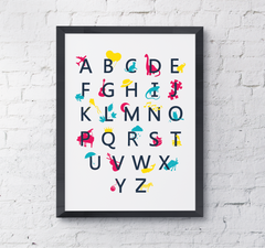 Illustrated Alphabet nursery print