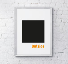Inspiration quote home office decor think outside box wall art print