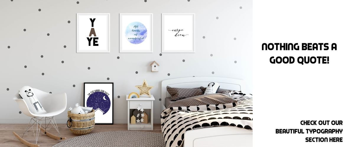 Nursery childrens decor prints
