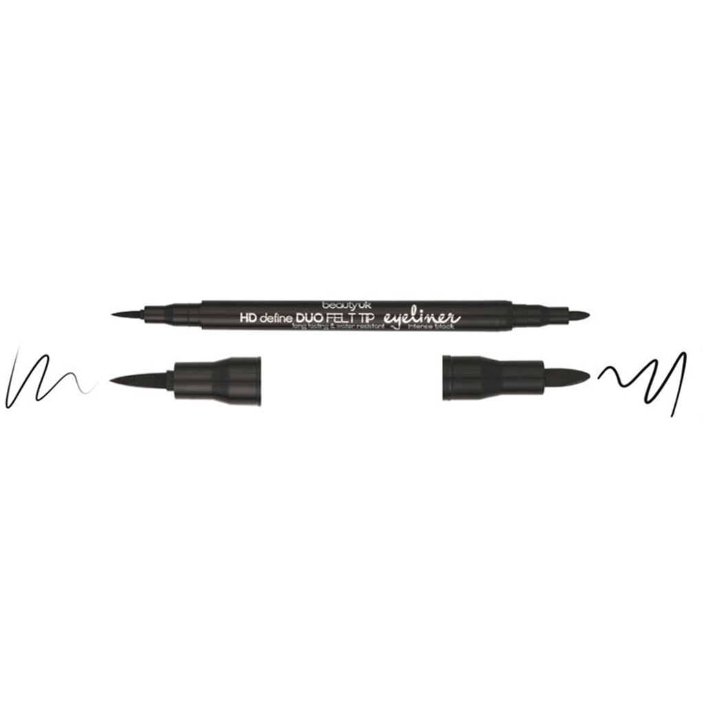 HD DUO FELT TIP EYELINER - BLACK (WATERPROOF)