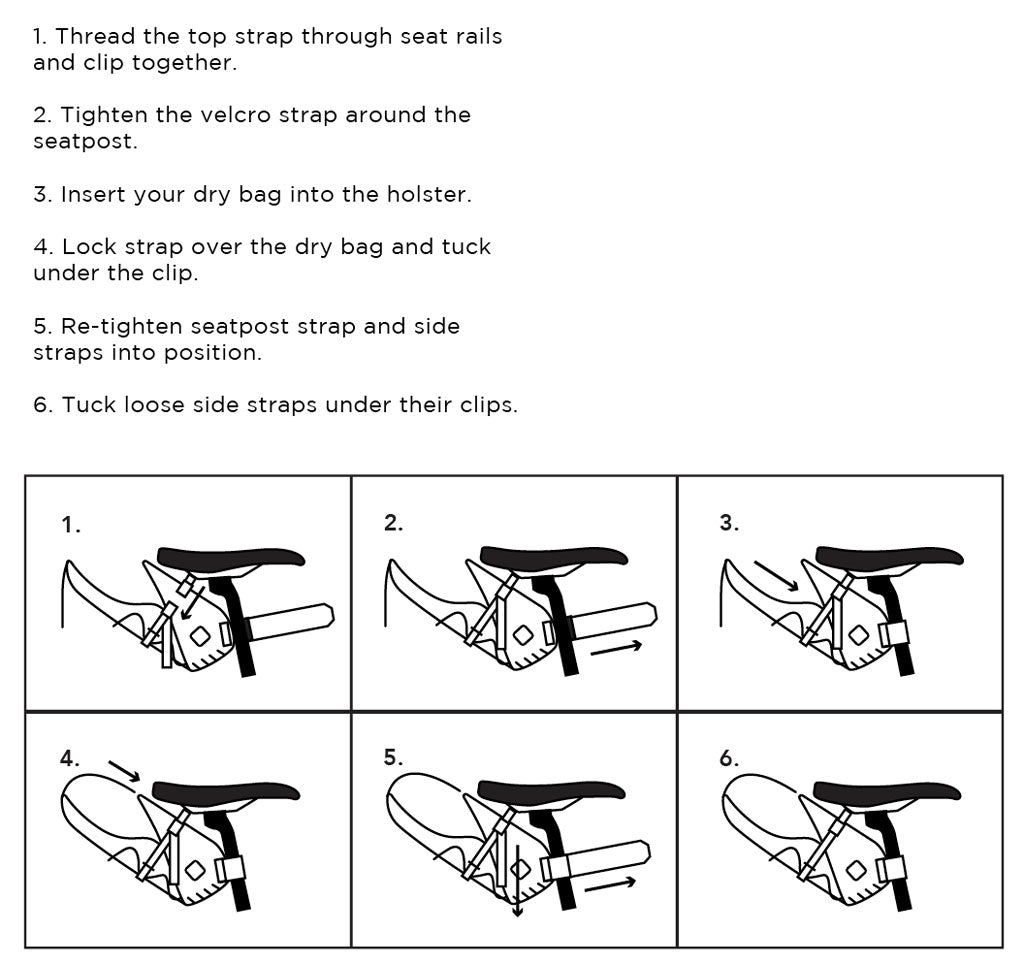 Restrap saddle bag set up instructions
