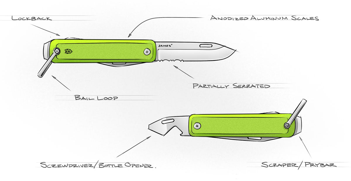 The Ellis pocket knife design - The James Brand