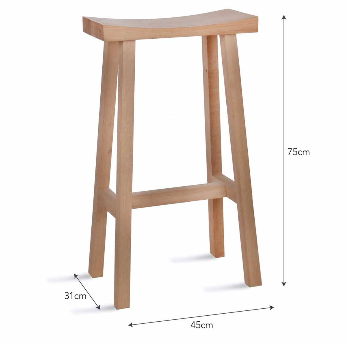 Tall Clockhouse Stool Natural
