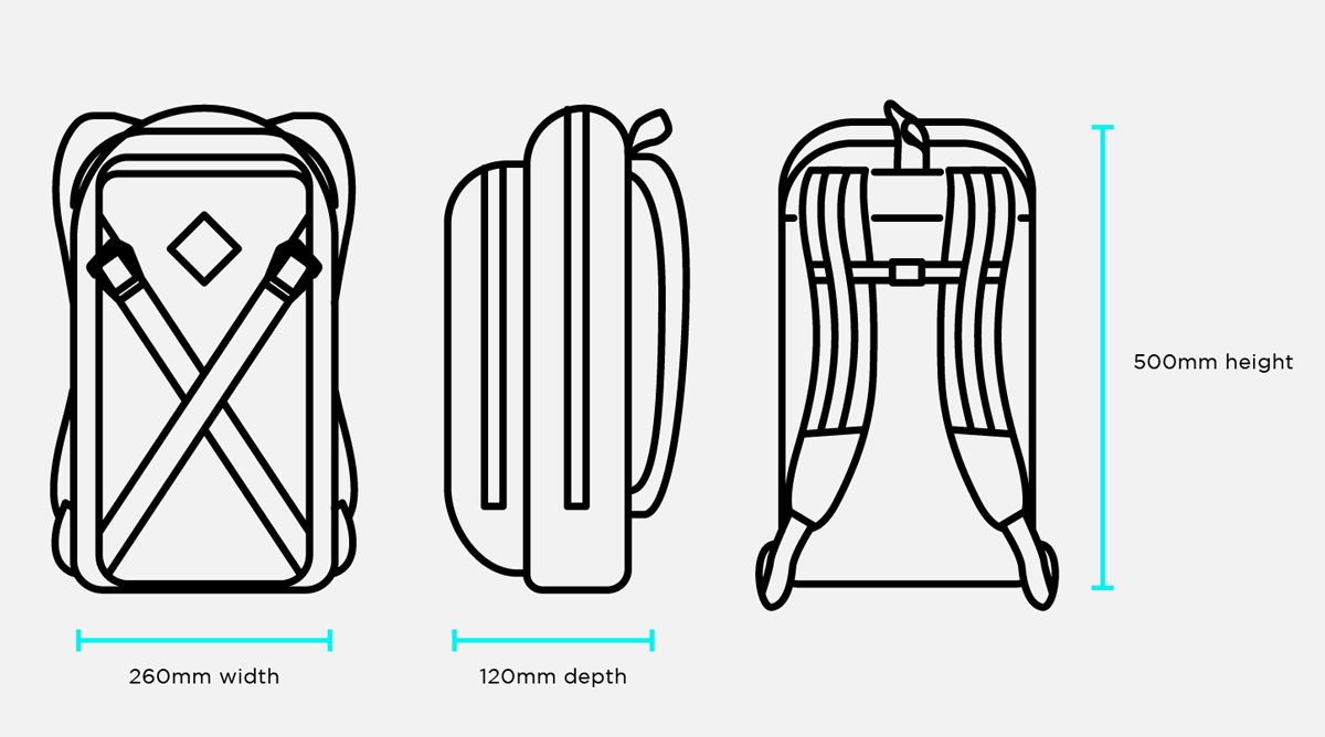 Restrap Sub Backpack Size Guide