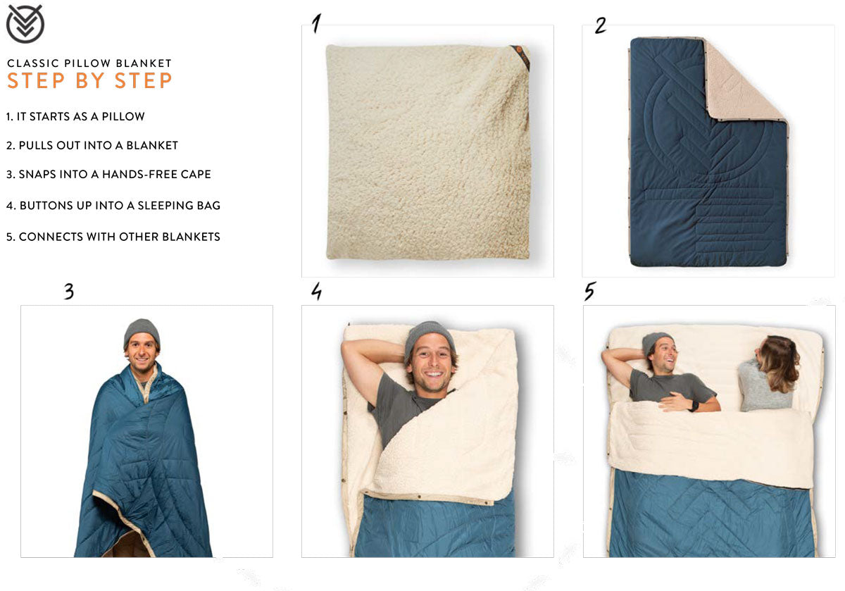 voited ripstop pillow blanket overview