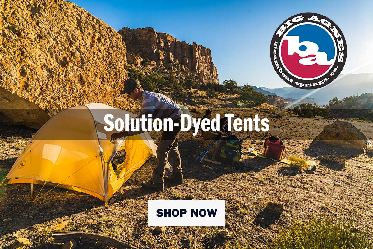 Big Agnes, Solution-Dyed Tents