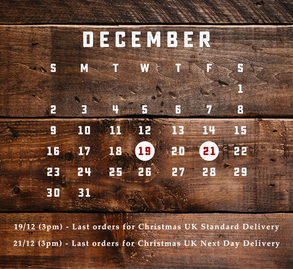 Last Delivery Dates for Christmas 2018