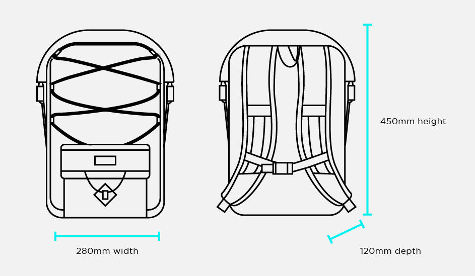 Restrap Ascent backpack size guide