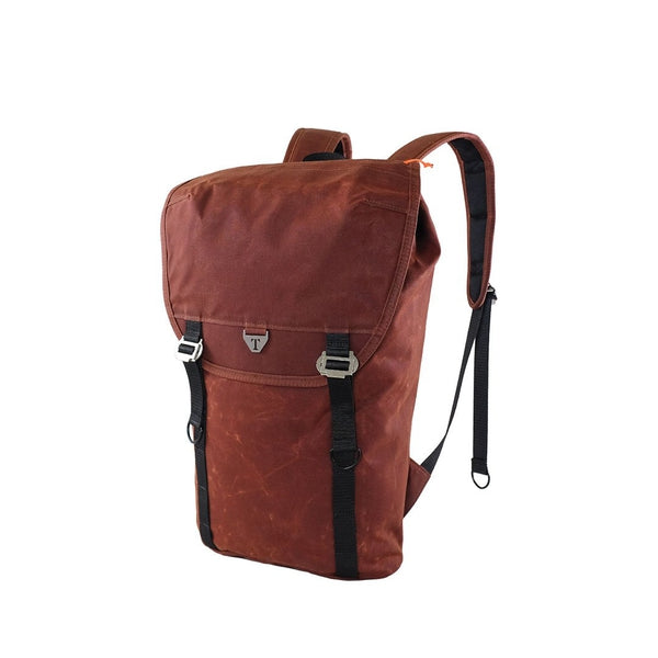Trakke Assynt 17 Waxed Canvas Backpack - Burnt Orange