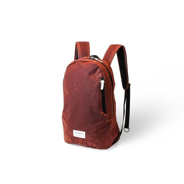 Trakke Fingal Crottle Vintage Waxed Canvas Backpack Urban Commuter
