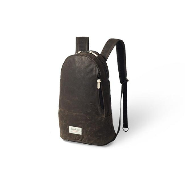 Trakke Fingal Olive Vintage Waxed Canvas Backpack Urban Commuter