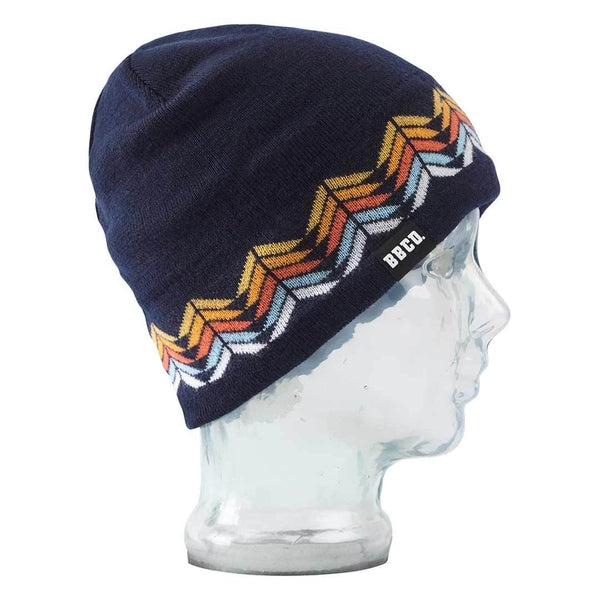 Big Balls Collective, BBCO, Navy Merino Wool beanie. A stylish warm winter hat for the slopes, under a helmet or for venturing out to town in the cold.