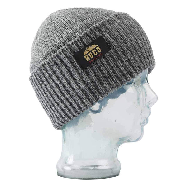 Big Balls Collective, BBCO, Grey Wool beanie. A stylish Fisherman style warm winter wooly hat for the slopes, hiking or for venturing out to town in the cold.