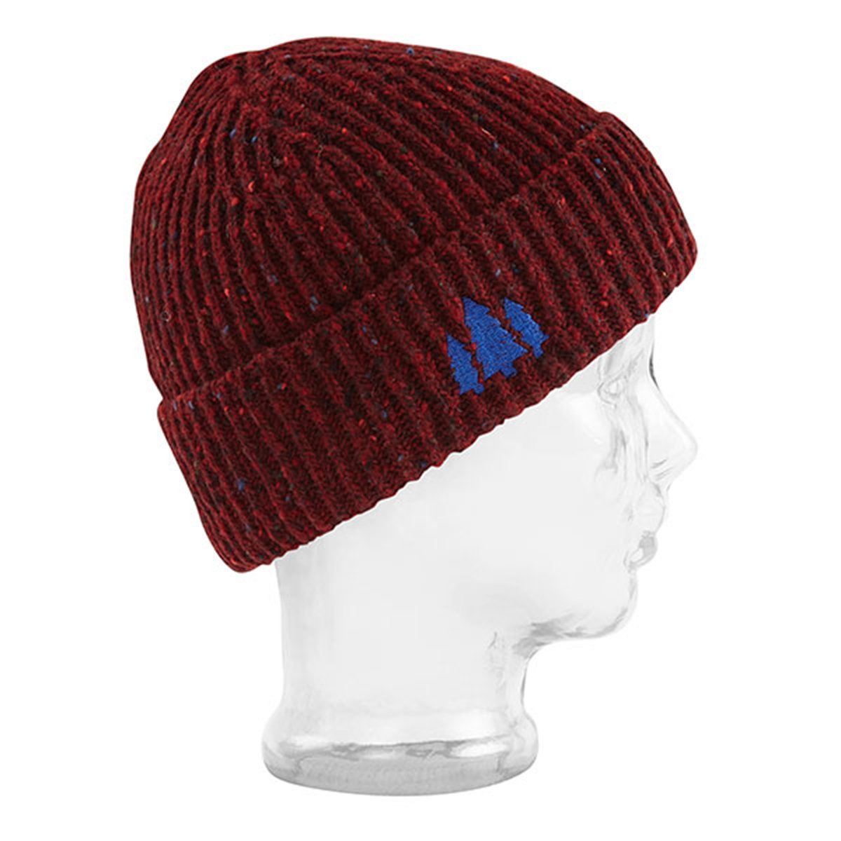 BBCo » Docker Beanie - Abbert | Fishermans Wool Hat | Made in Britain - Dark Red