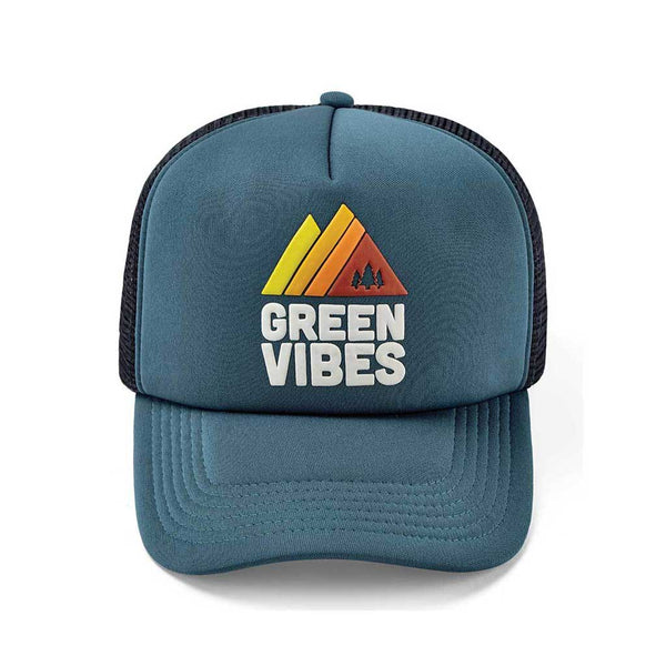 Green Vibes Trucker Cap BBCo BBCOTRGVRETRO02 Caps & Hats One Size / Retro