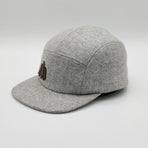 BBCOGMC01, BBCo, Tweed Wool Cap, Grey Marle, 5 Panel Cap | Wool Cap