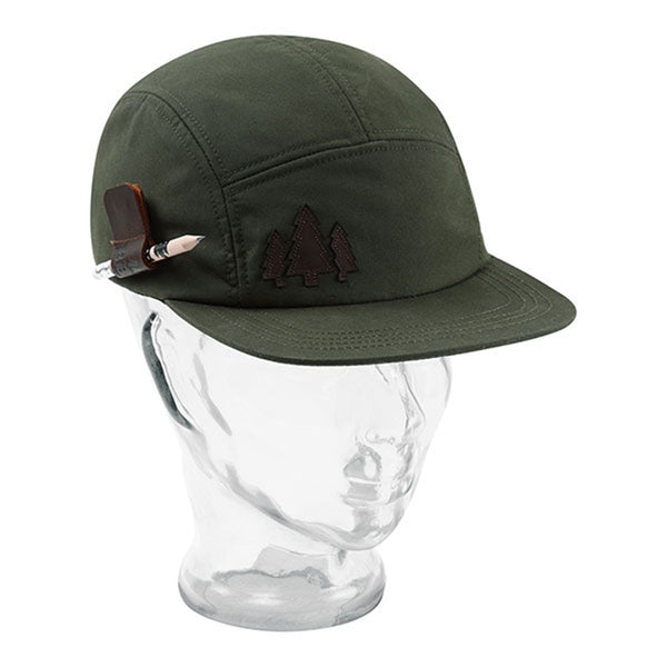 BBCo » Holster Wax Cap | 5 Panel Cap | British Waxed Cotton - Dark Green
