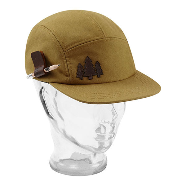 BBCo » Holster Wax Cap | 5 Panel Cap | British Waxed Cotton - Mustard - Sand