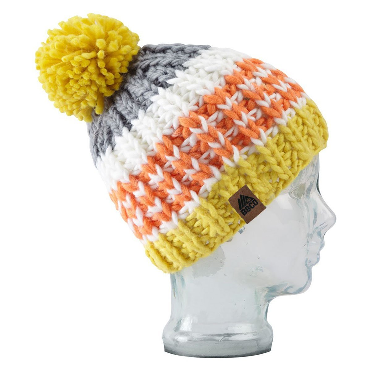BBCOSU011, BBCo, Surfer Beanie, Multi-colour, Chunky Knit Wool | Ski Bobble Hat