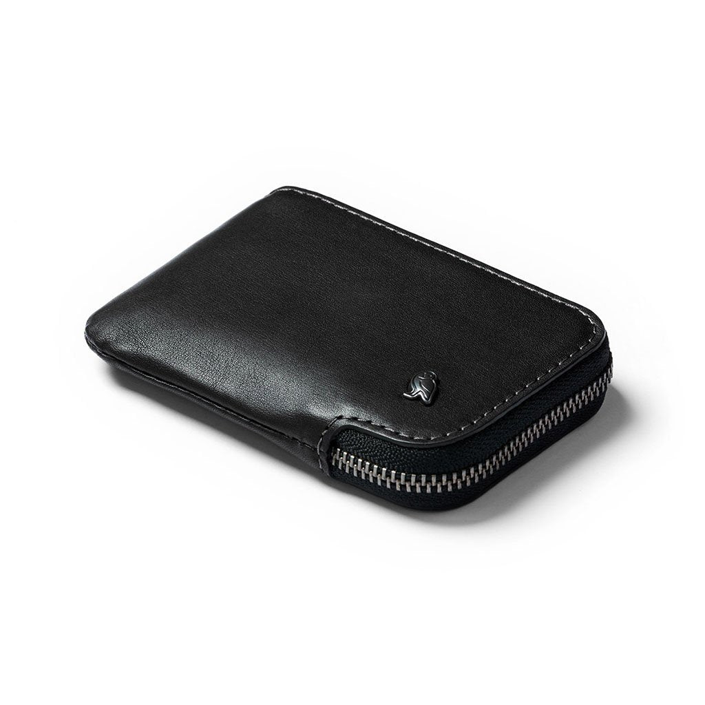 Bellroy | Card Pocket | Wallet With Coin Pocket | Zip Around Wallet, WCPA-BLK-101-1, Black