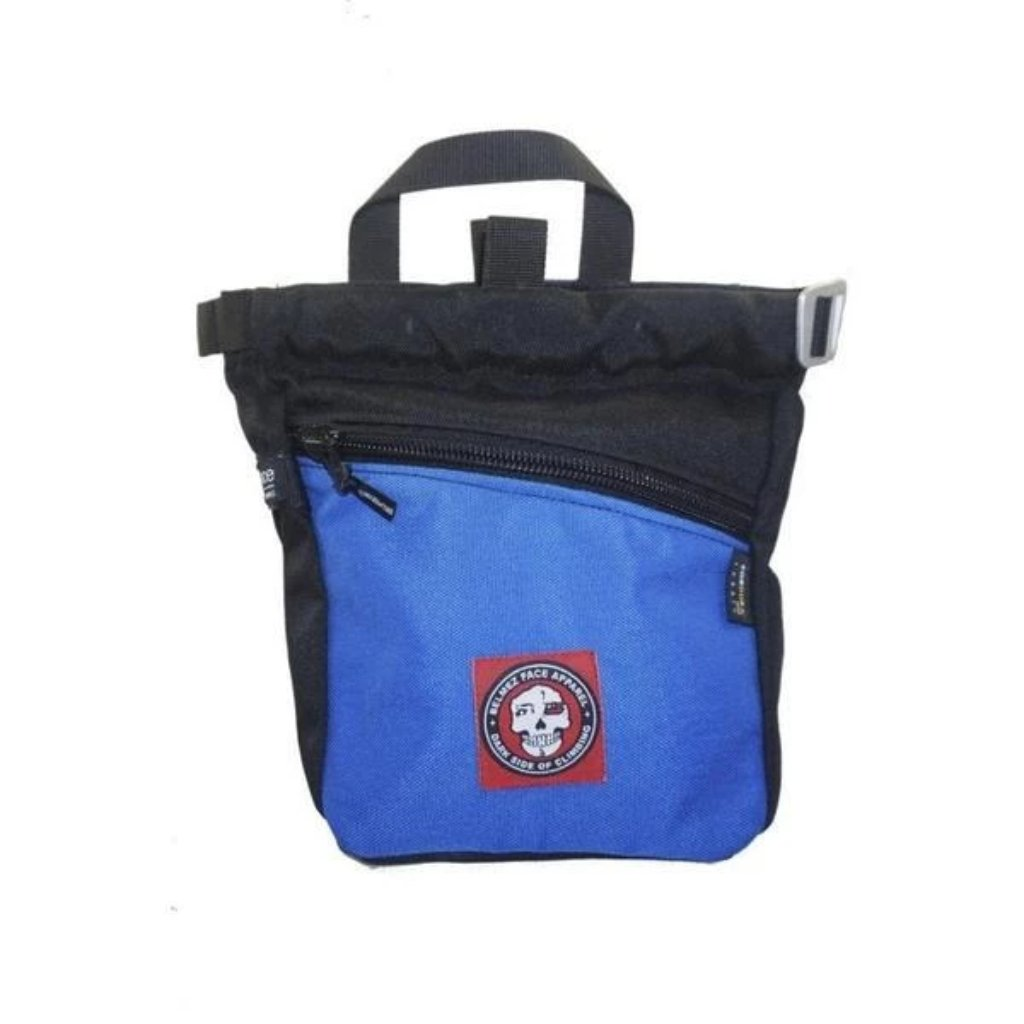 BelmezFace Darkside Boulder Bag - Bouldering and Climbing Chalk Bucket - Blue - Belmez Face