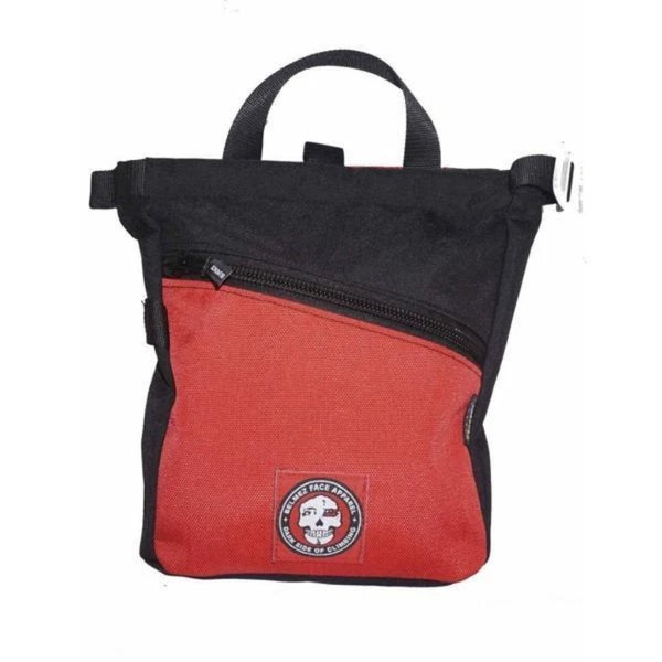 BelmezFace Darkside Boulder Bag - Bouldering and Climbing Chalk Bucket - Red - Belmez Face
