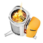 CSC1001, BioLite, BioLite CampStove 2, Silver / Yellow,  wood-burning camp stove | camping stove with USB charger