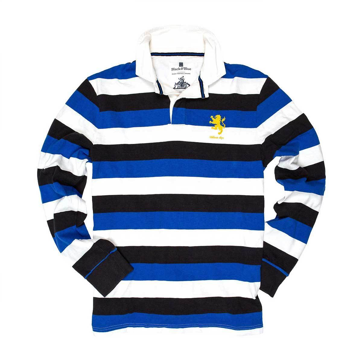 Vintage, Classic Cotton Rugby Shirt | Black & Blue 1871 | Addison 1871 Rugby Shirt