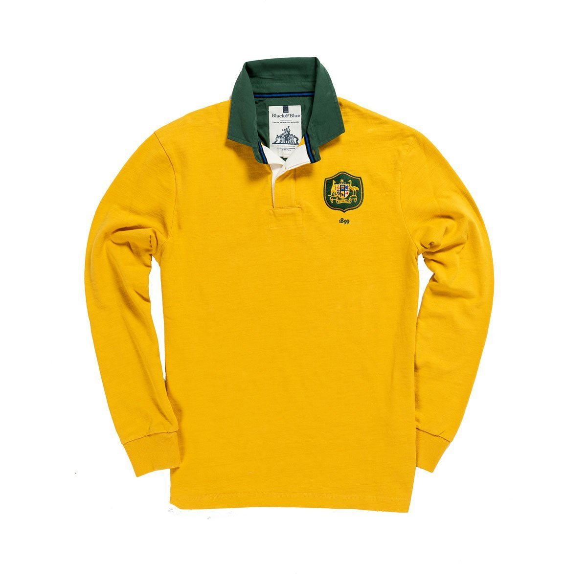1IN/AUXS, Black & Blue 1871, Australia 1899 Rugby Shirt, Yellow, Vintage, Classic Rugby Shirt