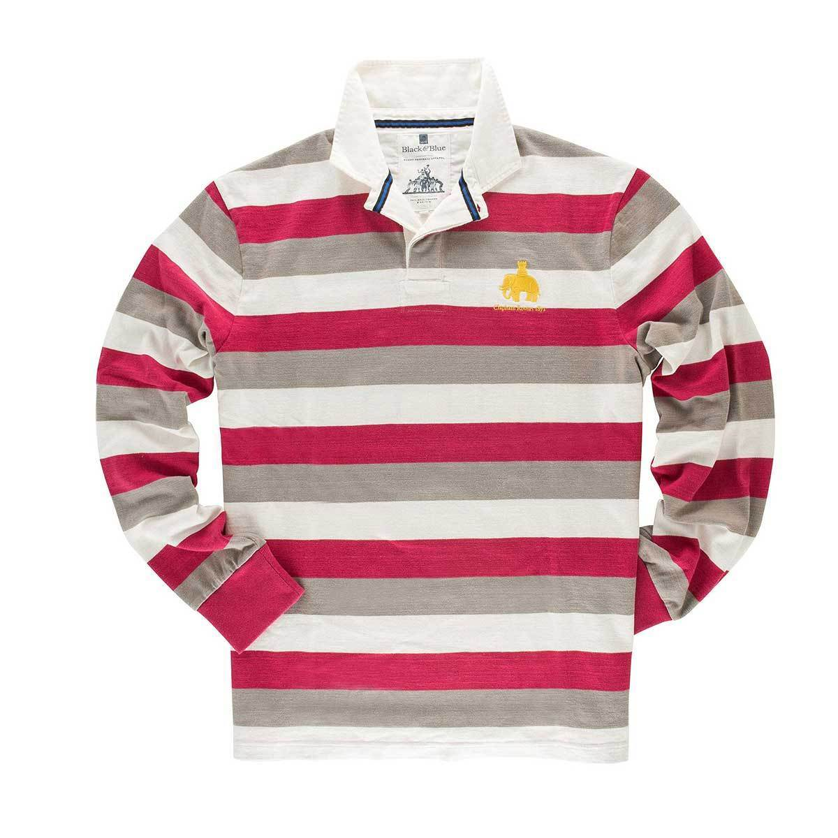Vintage, Classic Cotton Rugby Shirt | Black & Blue 1871 | Clapham Rovers 1871 Rugby Shirt
