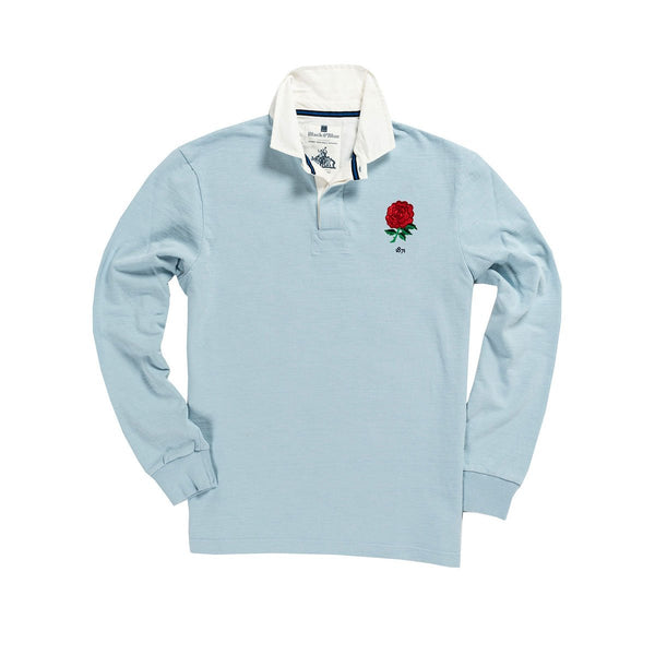 1IN/ENSXS, Black & Blue 1871, England 1871 Special Edition Rugby Shirt, Sky Blue, Vintage, Classic Rugby Shirt