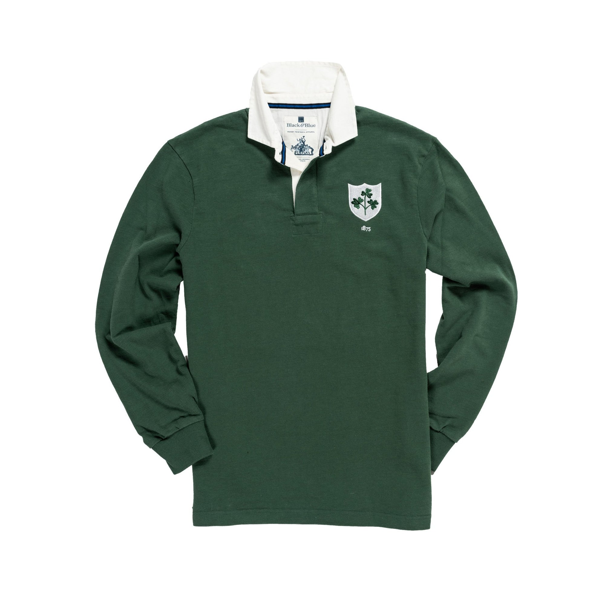 Vintage, Classic Cotton Rugby Shirt | Black & Blue 1871 | Ireland 1875 Rugby Shirt