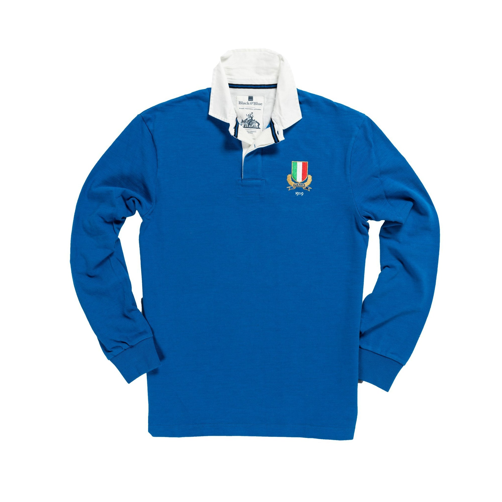 Vintage, Classic Cotton Rugby Shirt | Black & Blue 1871 | Italy 1929 Rugby Shirt