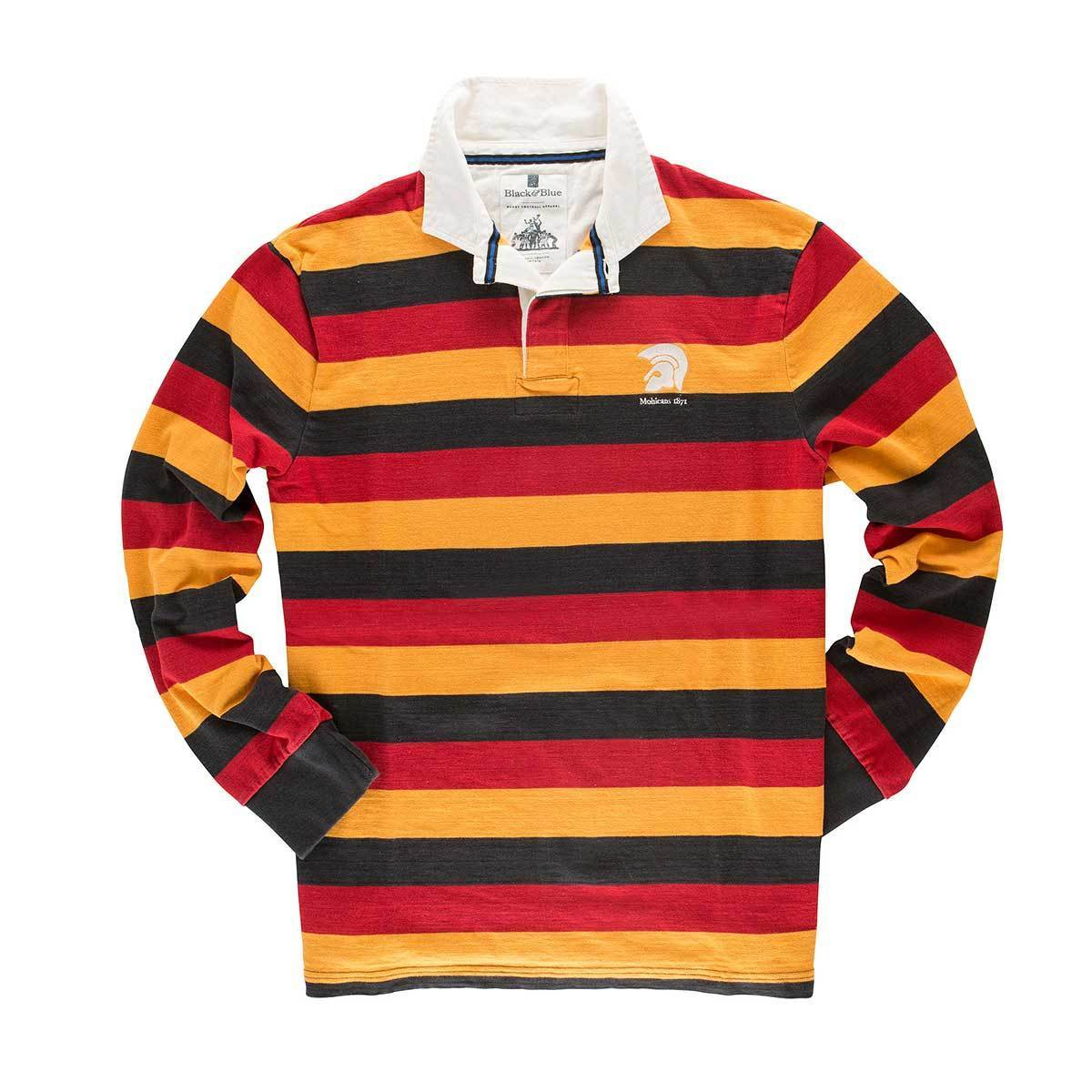 Vintage, Classic Cotton Rugby Shirt | Black & Blue 1871 | Mohicans 1871 Rugby Shirt