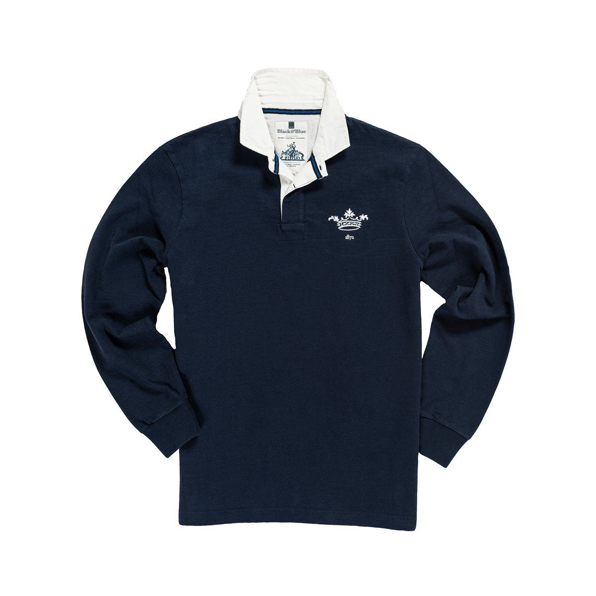 1V/OXS, Black & Blue 1871, Oxford 1872 Rugby Shirt, Navy, Vintage, Classic Rugby Shirt